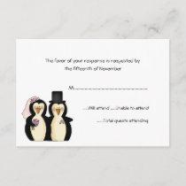 Penguins Wedding Response Card