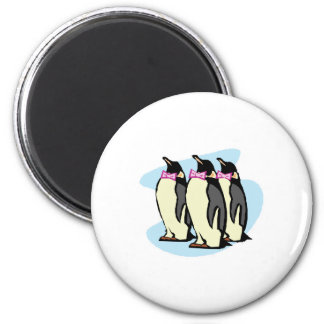 penguins with bowties 2 inch round magnet