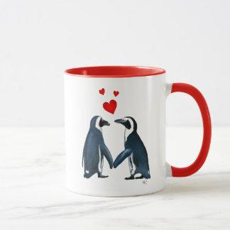 Penguins With Love Hearts Mug