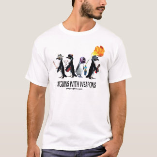 penguins with weapons T-Shirt
