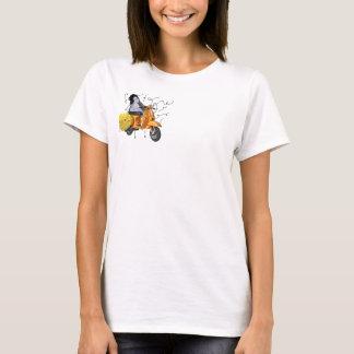 PenguinVespaFlowerLines T-Shirt