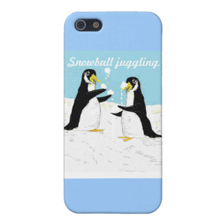 Pengy Penguin, snowball juggling Cover For iPhone SE/5/5s