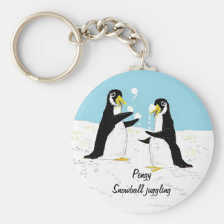 Pengy Penguin, snowball juggling Keychain