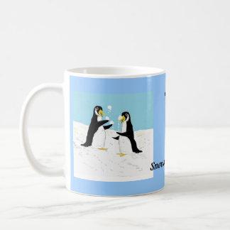 Pengy Penguin, snowball juggling Coffee Mugs