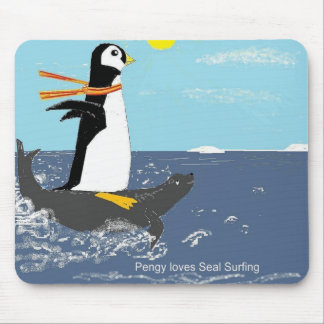 Pengy, Seal Surfing Mouse Pad