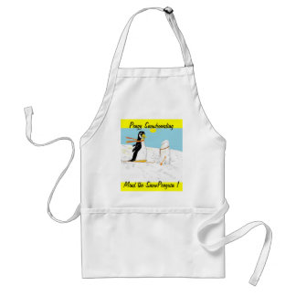 Pengy Snowboarding Adult Apron
