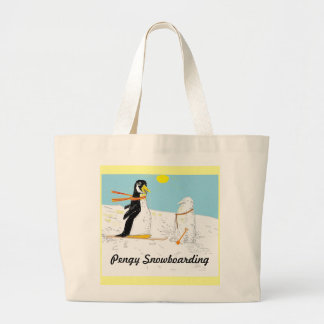 Pengy Snowboarding Tote Bags