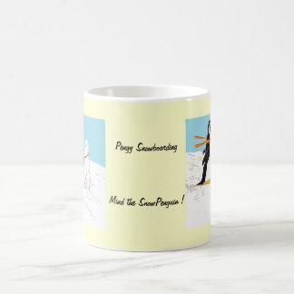 Pengy Snowboarding Coffee Mug