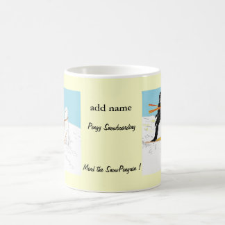 Pengy Snowboarding Mugs add name