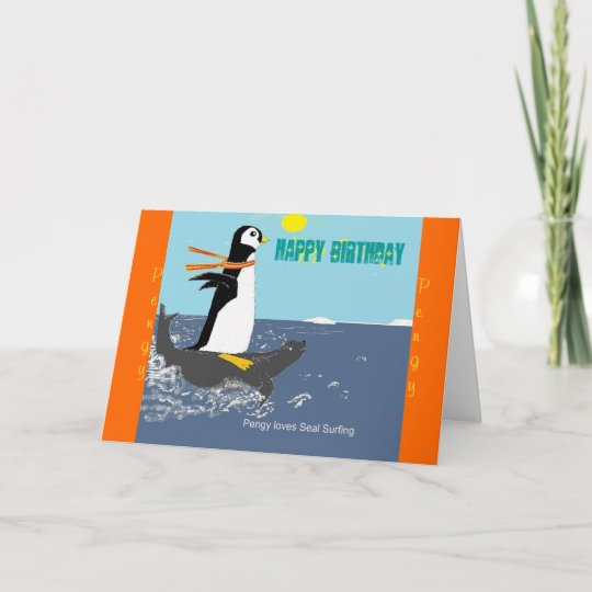 Pengy The Penguin Birthday Card Card Zazzle