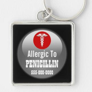 Penicillin ICE medic alert | Personalize Keychain