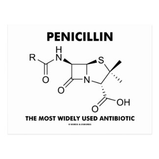 Penicillin Most Widely Used Antibiotic (Chemistry) Postcard