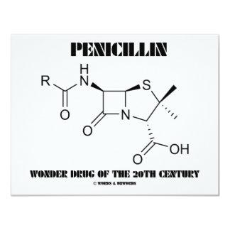 "Penicillin Wonder Drug Of The 20th Century 4.25"" X 5.5"" Invitation Card"