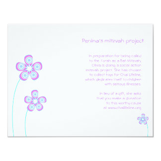Penina Bat Mitzvah Project Card