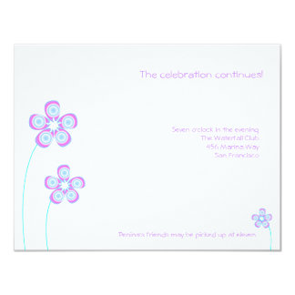 Penina Bat Mitzvah Reception Card
