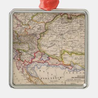 Península balcánica, Austria, Hungría Adorno Navideño Cuadrado De Metal
