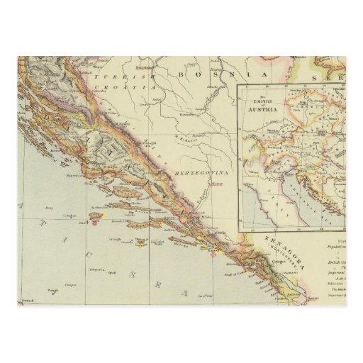 Península balcánica, Croacia, Eslovenia Tarjetas Postales