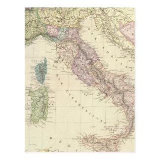 Península balcánica, Italia, Eslovenia 2 Tarjetas Postales