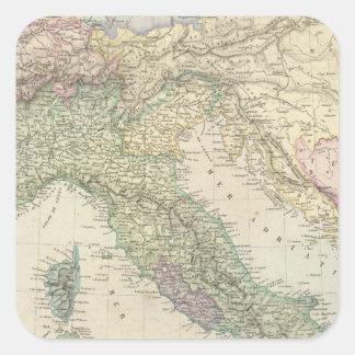 Península balcánica, Italia, Eslovenia Pegatinas Cuadradases Personalizadas