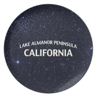 Península California de Almanor del lago Platos Para Fiestas