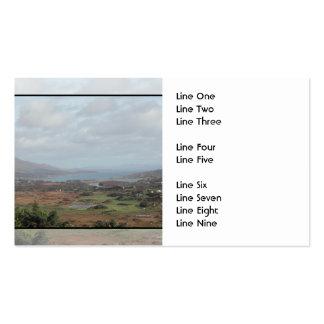 Península de Beara, Irlanda. Vista escénica Plantillas De Tarjetas De Visita
