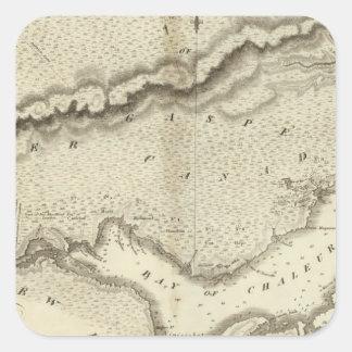 Península de Gaspe Calcomanias Cuadradas