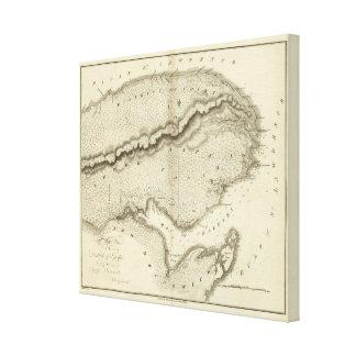 Península de Gaspe Lienzo Envuelto Para Galerias