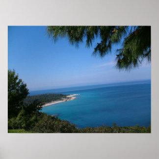 Península de Grecia Sedonia Póster
