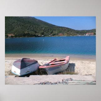 Península de Grecia Sithonia Póster