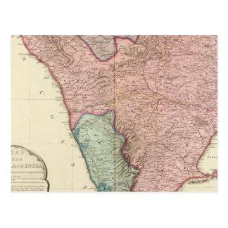 Península de la India del sur Tarjeta Postal