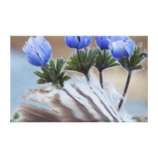 Península de Seward, Alaska, Wildflowers árticos Impresión En Lona Estirada