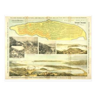 Península del belvedere, el condado de Marin, CA Postales