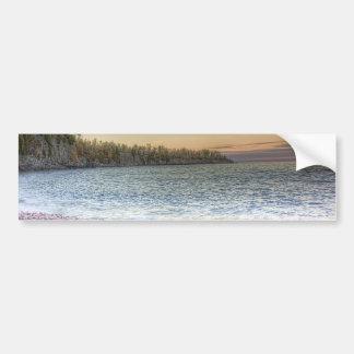 Península del lago pegatina para auto