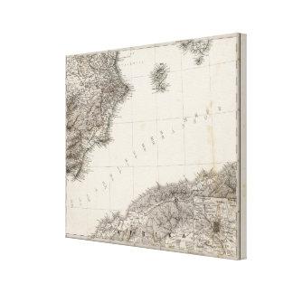 Península española 4 impresión en lona estirada
