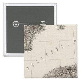 Península española 4 pin cuadrado