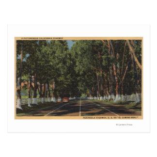 Peninsula Highway US 101 El Camino Real View Post Cards