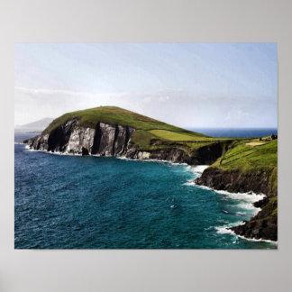 Península Irlanda de la cañada Poster