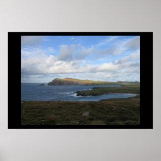 Península Irlanda de la cañada Posters