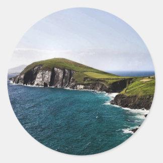 Península Irlanda de la cañada Etiquetas Redondas