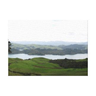Península Nueva Zelanda de Coromandel del paisaje Lona Estirada Galerías