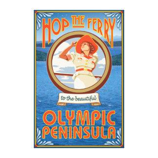 Península olímpica, WashingtonHop el transbordador Impresión En Lienzo
