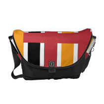 Peninsula on Fire Striped Courier Bag