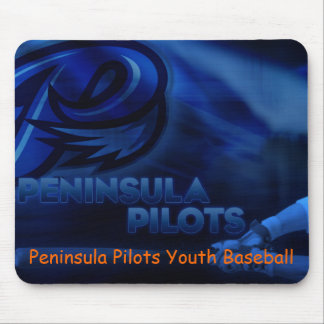 Peninsula Pilots Youth Baseball Mousepad