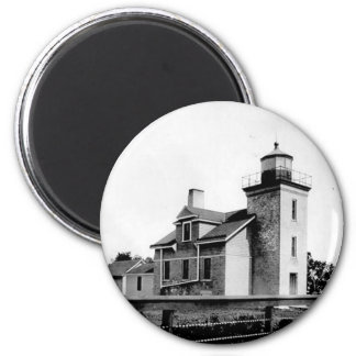 Peninsula Point Lighthouse 2 Inch Round Magnet