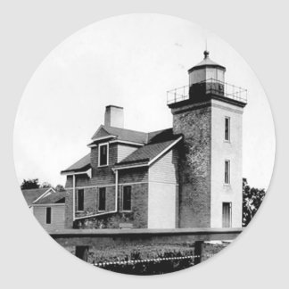 Peninsula Point Lighthouse Classic Round Sticker