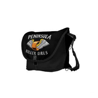 Peninsula Roller Girls - Small Rickshaw Messenger Small Messenger Bag