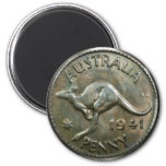 Penique 1941 de Australia Imán Redondo 5 Cm