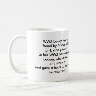 Penique afortunado WW2 Tazas De Café
