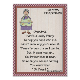 Penique Cartera-Abuela-Afortunado del Penique-Pega Poster
