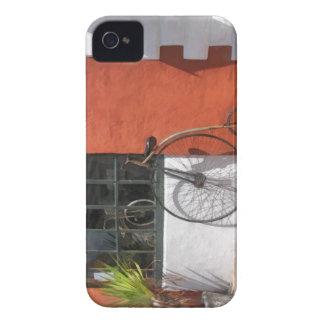 Penique-Comino delante de la tienda de la bici Case-Mate iPhone 4 Cobertura